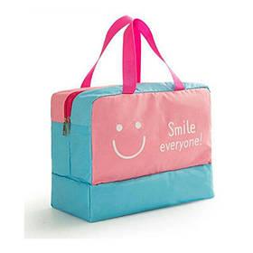 Дорожная сумка с отделением для обуви Розовая ( сумка  спортивная )