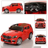 Детский электромобиль Mersedes Benz ML-63 (EVA колеса)(белый,красный)