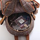 Рюкзак мини женский в мелкую клетку Бордовый, фото 8
