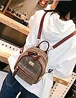 Рюкзак мини женский в мелкую клетку Бордовый, фото 9