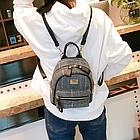 Рюкзак мини женский в мелкую клетку, фото 2