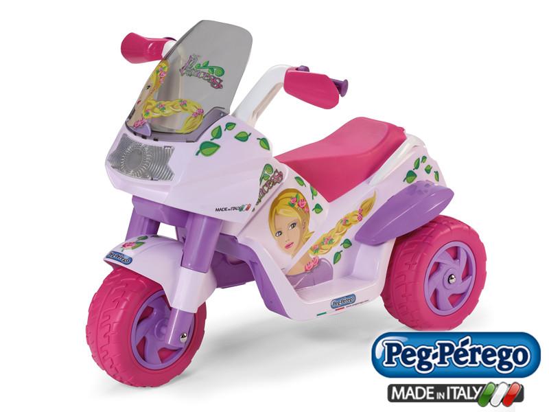 Детский трицикл Peg Perego Raider Princess 6V, мощность 60W, размер 93*70*60 см