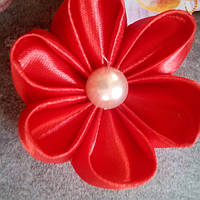 """Резинка для волос""""цветочек"""",красный"""
