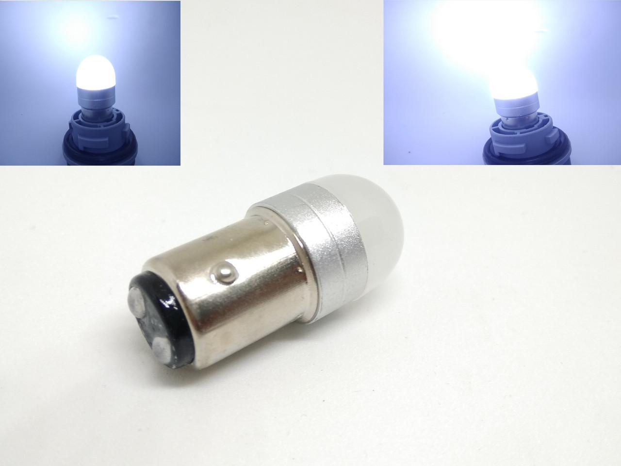 Автолампа LED Ceramic, P21/5W, 1157, 2 контактная, SMD3030, 12V, Белая
