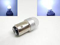 Автолампа LED Ceramic, P21/5W, 1157, 2 контактная, SMD3030, 12V, Белая, фото 1