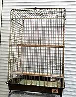 Клетка Rotwis для средних и крупных попугаев с открывающимся верхом (50 х 40 х 80 см), фото 1