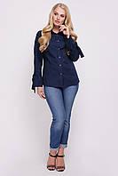 Блуза женская Агата синяя, фото 1