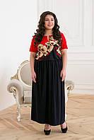 """Платье из масла """"\Елена р. 54;56 красный принт, фото 1"""