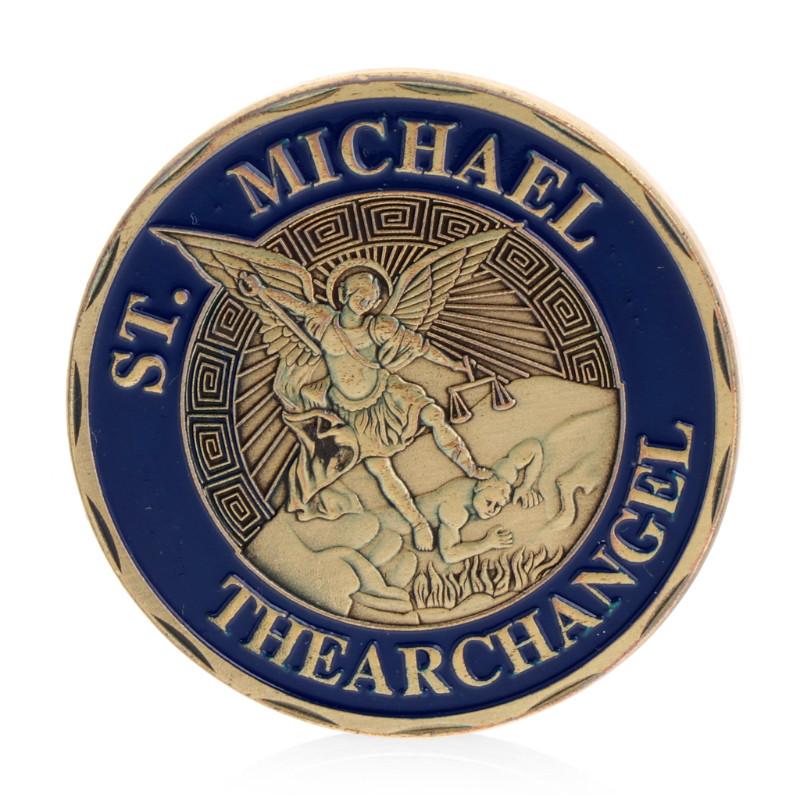 Памятная монета Святой Михаил Архангел защитник полицейских (оберег)