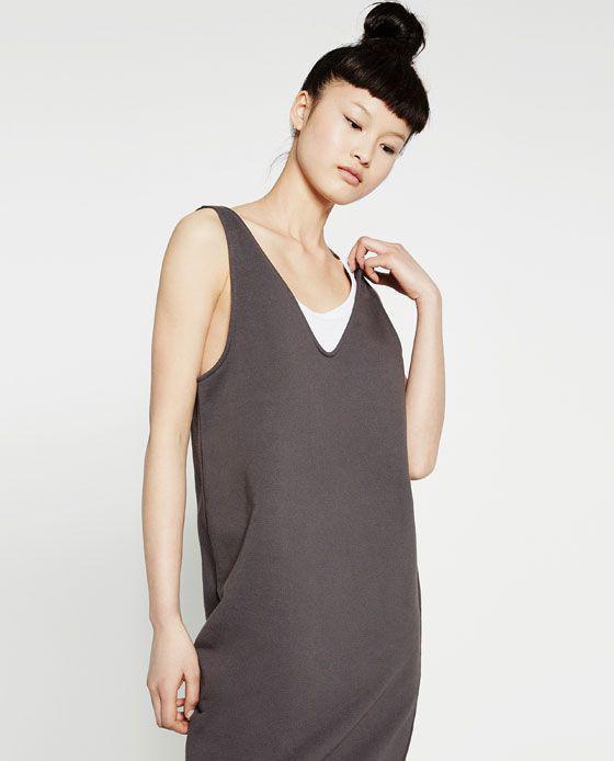 Новое прямое платье-свитшот Zara
