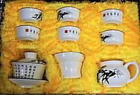 """Набор чайный фарфор """"Бамбук"""" 100 мл, 100 мл, 25 мл"""
