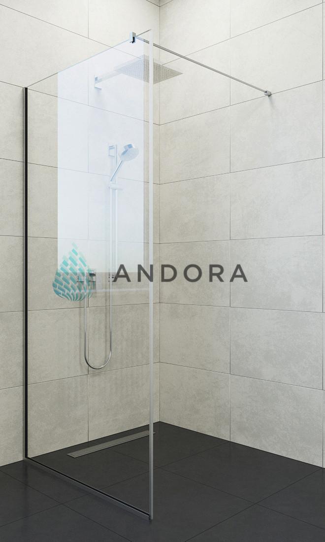 Душевая кабина Andora Summer Walk-in 120x200 стекло clear