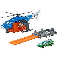 Набор Hot wheels - Супербоевой вертолет Hot Wheels Super S.W.A.T. Copter Vehicle