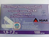Пластырь бактерицидный медицинский Игар на полиуретановой основе  (Прозрачный) (шт.)
