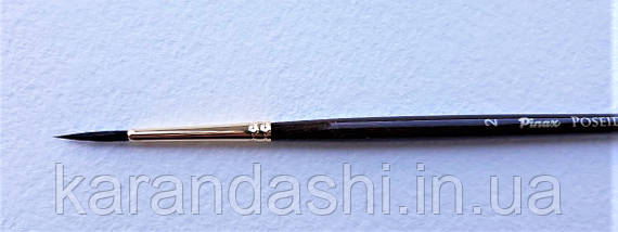 Кисть Pinax Poseidon 821 БЕЛКА микс № 2 круглая короткая ручка, фото 2