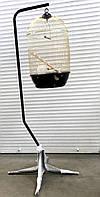 Круглая клетка ™️ Золотая клетка с подставкой (40*70 см), фото 1