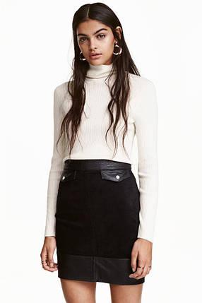 Короткая черная юбка H&M, фото 2