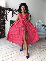 Оригинальное платье в мелкий горошек, фото 1