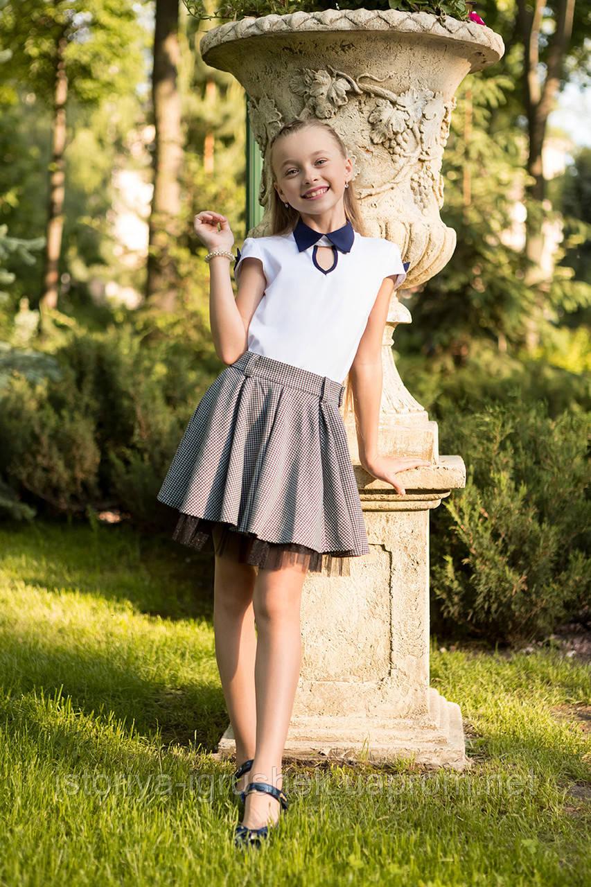 Школьная блуза для девочки sh-53 в ассортименте
