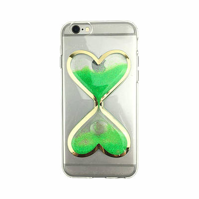 Чехол накладка xCase на iPhone 5/5s/se песочные часы зеленые