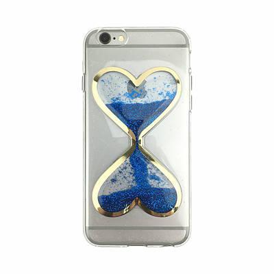 Чехол накладка xCase на iPhone 5/5s/SE песочные часы синие