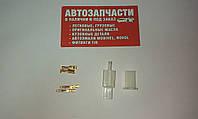 Разъем электрический 2 контакта разборной без провода (папа+мама) контакты 2.8 мм пр-во Турция