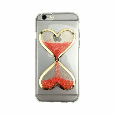 Чехол накладка xCase на iPhone 6/6s песочные часы красные