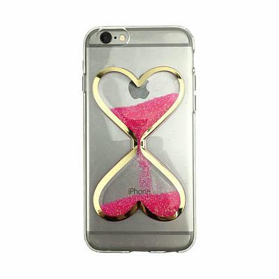 Чехол накладка xCase на iPhone 5/5s/SE песочные часы малиновые