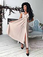 Красивое молодежное платье с V- образным декольте, фото 1