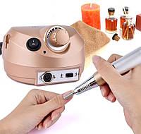 Фрезер ZS 601 \ DM 202 на ✅60W и 35 000 оборотов Nail Drill  для ногтей: маникюра и педикюра - золото Оригинал