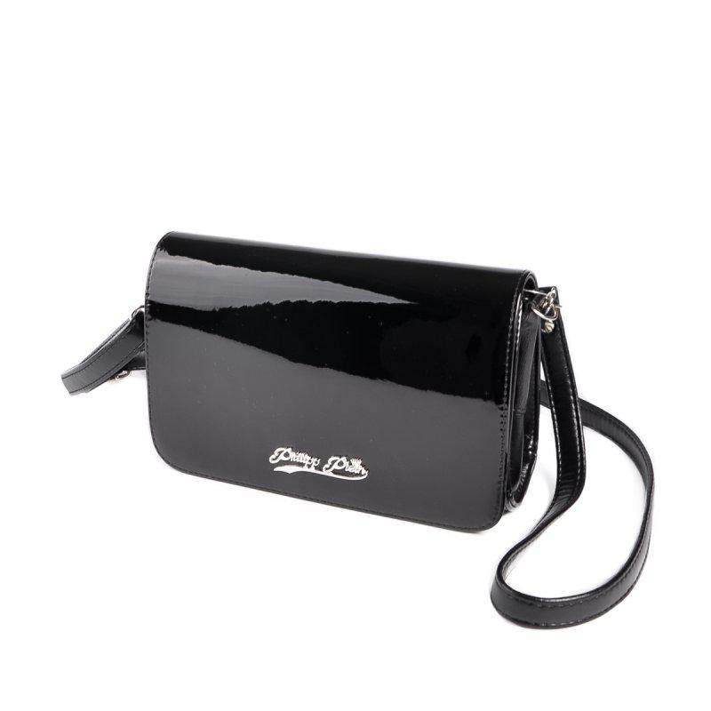 5a4f8089d996 Черная маленькая сумка-клатч лаковая на плечо М63-лак/Z: продажа ...