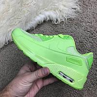 Женские кроссовки Nike Air Max 90 Lime Найк Аир Макс 90, фото 1