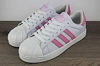 Женские кроссовки Adidas Superstar Адидас Суперстар белые, фото 1