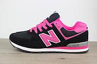Женские кроссовки New Balance 574 Нью Баланс 574 черные, фото 1