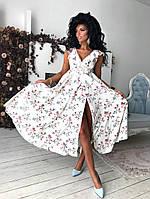 Милое женское платье в цветочный принт, фото 1