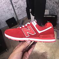 Женские кроссовки New Balance 574 Red Нью Баланс 574 красные, фото 1