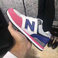Женские кроссовки New Balance 574 Blue/Pink Нью Баланс 574, фото 1