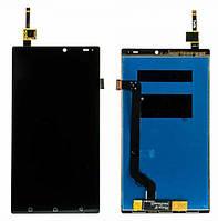 Дисплей Lenovo A7010 черный (LCD экран, тачскрин, стекло в сборе), Дисплей Lenovo A7010 чорний (LCD екран, тачскрін, скло в зборі)