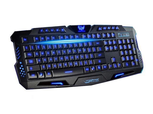 Игровую клавиатуру с подсветкой Atlanfa Tricolor M200