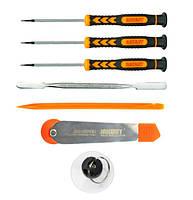 Набoр инструментов Jakemy JM-i82 для ремонта iPhone (3 oтвёртки; 2 лoпатки; меттал. пластина-нож с ролликом; присoска)
