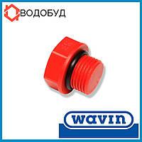 Wavin пробка паечная для полипропиленовых труб пластиковая с наружной резьбой 1/2 короткая