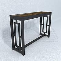 Столик в прихожую-гостиную в стиле лофт 350 х 1400. Стол на металлокаркасе.