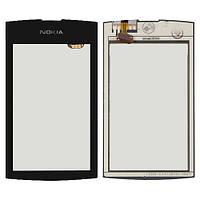 Сенсорный экран Nokia Asha 305 черный (тачскрин, стекло в сборе)