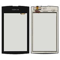 Оригинальный сенсорный экран Nokia Asha 305 черный (тачскрин, стекло в сборе)