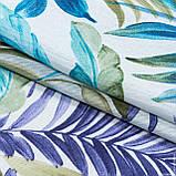 Декоративная ткань  лонета феникс/fenix /листья голубой сине-фиолетовый,оливка 148853, фото 2
