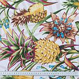Декоративна тканина лонета пинас/pinas ананаси жовтий,зелений 148842, фото 3