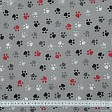 Декоративна тканина лонета хеллас/huellas /фон сірий 148859, фото 3