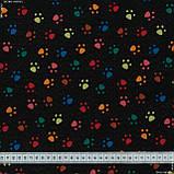 Декоративна тканина лонета хеллас/huellas фон чорний,мультиколор 148861, фото 3