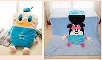 Детское одеяло трансформер Дональд Дак, 110*165 см ( одеяло подушка игрушка )