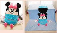 Детское одеяло трансформер Минни, 110*165 см ( одеяло подушка игрушка )